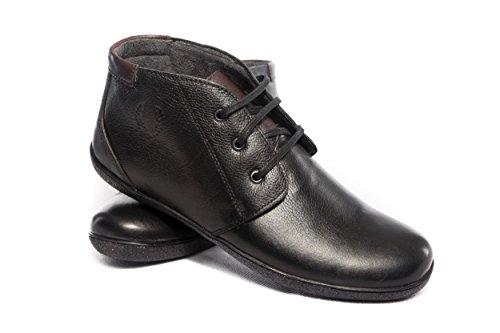 Herren Echt Leder Stiefel Schwarz Handgefertigt (SW002)