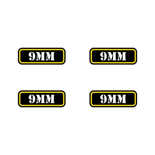(4x) 9mm Ammo Can Sticker Set Decal molon labe bullet 9 mm type 2 FA Vinyl