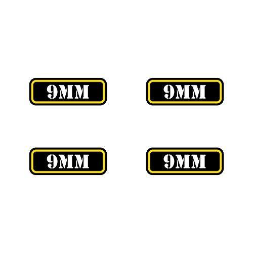 (4x) 9mm Ammo Can Sticker Set Decal molon labe bullet 9 mm type 2 FA Vinyl fagraphix 1131C4fa1273