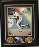 Athlon CTBL-011898 Cal Ripken44; Jr. Unsigned Baltimore Orioles 91 Most Valuable Player Photo Custom Framed with 2 Highland Mint Coins - 8 x 10