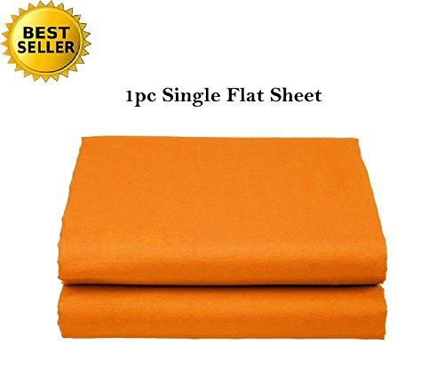 Elegant Comfort Luxury Ultra Soft Single Flat Sheet Special Treatment Construction California King, Orange
