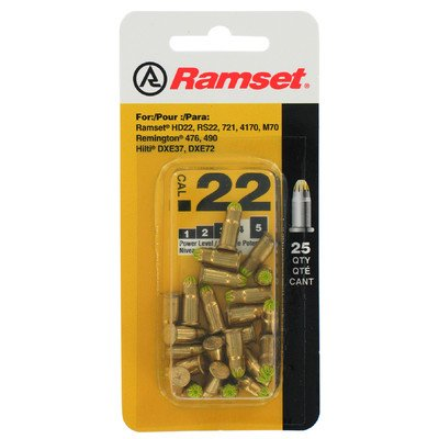 25 Count Yellow .22 Caliber Single Shot Powder Loads [Set of 3] Single Shot Powder