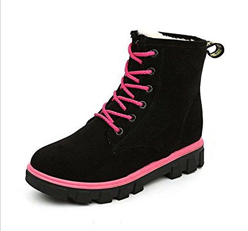 Kuki botas para mujeres, zapatos para mujeres, botas de nieve, planas, version coreana, botas Martin, invierno, Plus algodón,