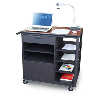 Vizion Presenter Mobile Presentation AV Cart Finish: Cherry
