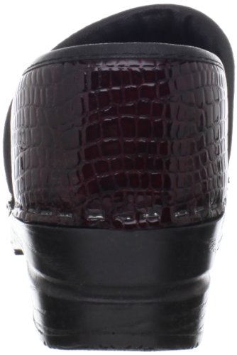 Sanita Womens Original Professional Croco Closed Clog Bordeaux Patent