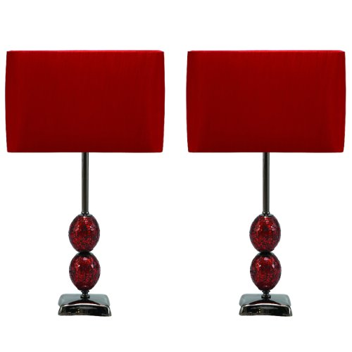 Urban Designs Mosaic Cracked Glass Table Lamp (Set of 2), 25