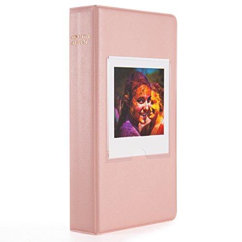 Woodmin 64 Pockets Photo Album for Fujifilm Instant Square SQ10 Films (Pink)
