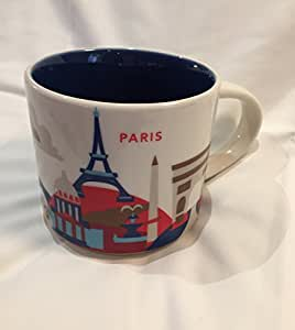 starbucks paris you are here yah coffee mug kitchen dining. Black Bedroom Furniture Sets. Home Design Ideas