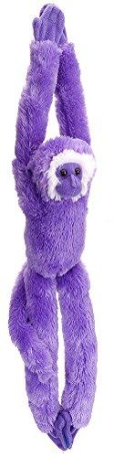 Wild Republic Hanging Monkey, Stuffed Animal, Plush Toy, Gifts for Kids, Purple, 20