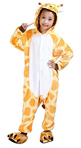Betusline Girl Boys Unisex Pajamas Animal Onesies Cosplay Sleeping Wear Giraffe