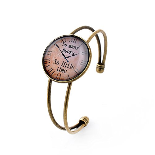lureme Simple Jewelry Time Gem Series Pocket Watch Disc Charm Open Bangle Bracelet for Women and Girl (06002669) from LUREME