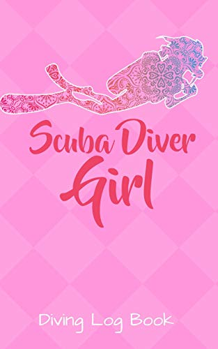 Diving Log Book: Logbook DiveLog for Scuba Diving | Preprinted Sheets for 100 dives | Diver - English Version for Woman Girls Pink Ladies por XASTY Diving