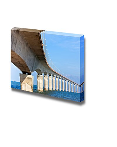 Curved Concrete Bridge Over the Water Home Deoration Wall Decor ing