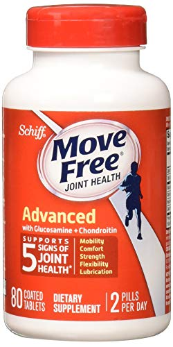 Move Free Triple Strength Glucosamine Chondroitin and Hyaluronic Acid Joint Supplement, 80 Count ()