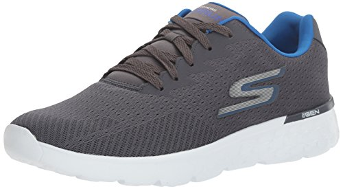 Skechers Performance Go Run 400, Zapatillas de Entrenamiento para Hombre Gris (Charcoal/blue)