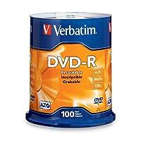 Verbatim DVD-R 4.7GB 16x AZO Disco de medios grabable - Disco de 100 discos - 95102