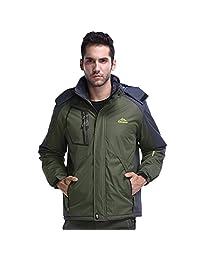Dnstar Men's Winter Coats and Jackets Big and Tall Warm Ski Fleece Plus Size