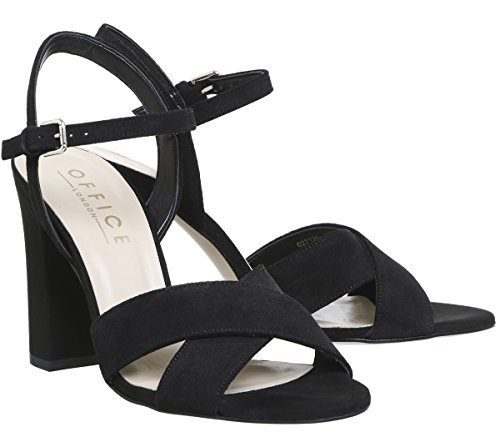 Hazel Sandals Office Two Suede Part Black z7dxqx