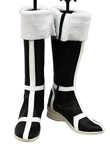 GOTEDDY Knee High Boots Adult Halloween Cosplay Low Heel Shoes Costume -