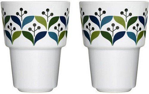 Sagaform 10-Ounce Stoneware Retro Mug, 2-Pack ()