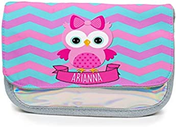 Personalised Pink Blue Any Name Pencil Case School Kids Birthday Back to School