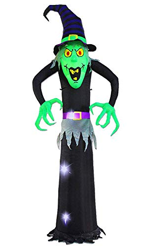 SEASONBLOW 8 Ft Halloween Inflatable Witch Ghost Decoration