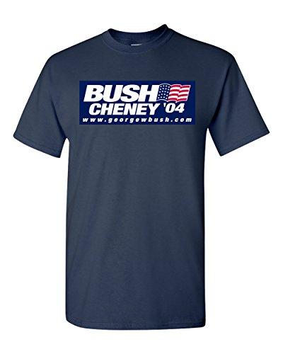 Bush Cheney 04 Republican George W 2004 Navy T-Shirt (Navy, Medium)