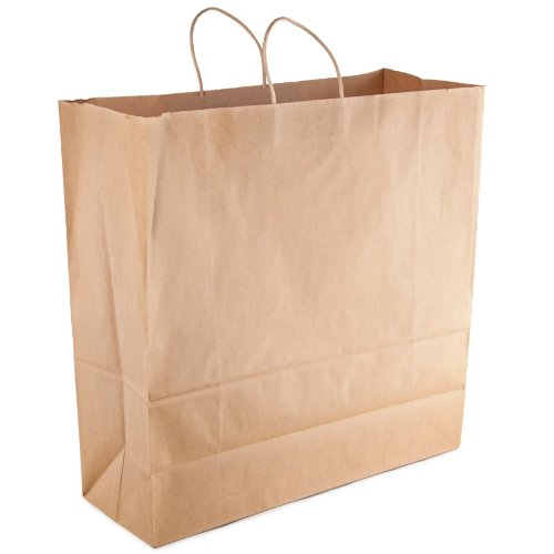 Duro ID# 86782 Cargo Shopping Bag 70# Natural Kraft 200pk 7 x 18 x18-3/4 by Duro