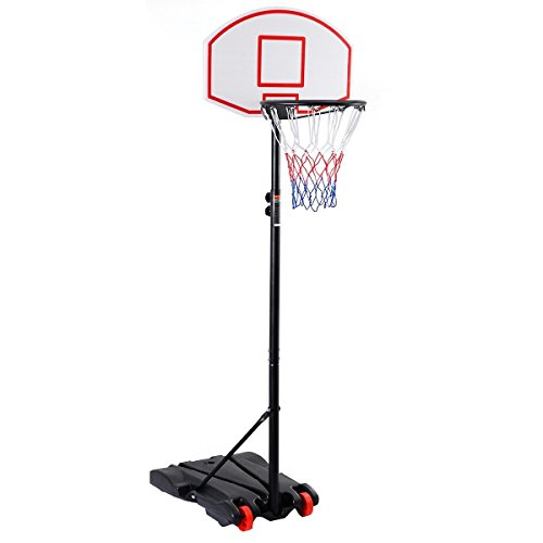 Giantex Adjustable Basketball Hoop System Stand Kid Indoor Outdoor Net Goal w/ Wheels