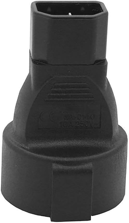 ACA1018 Europe CEE7//7 Schuko to IEC C14 Plug Adapter to Convert European Power Cords to The IEC C13 Cord Standard.