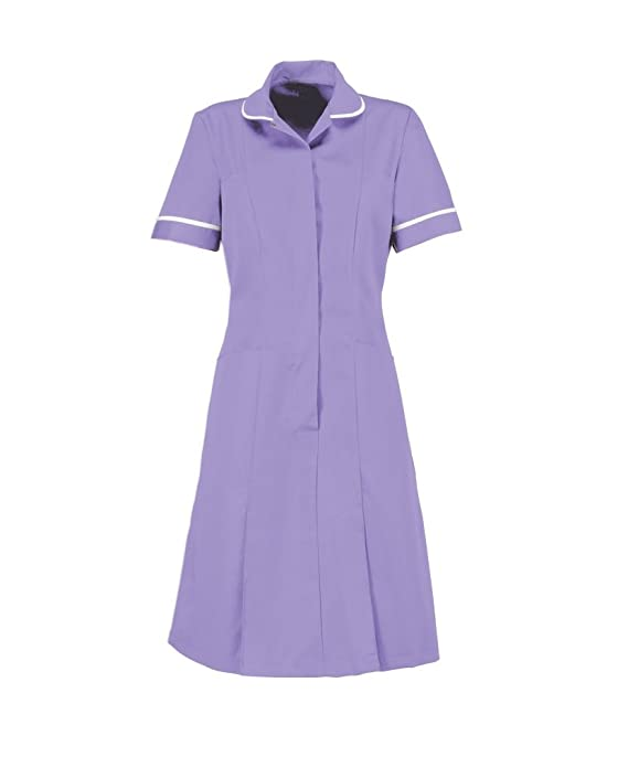 1940s Day Dress Styles, House Dresses Alexandra Workwear Womens Zip Front Healthcare Dress $37.51 AT vintagedancer.com