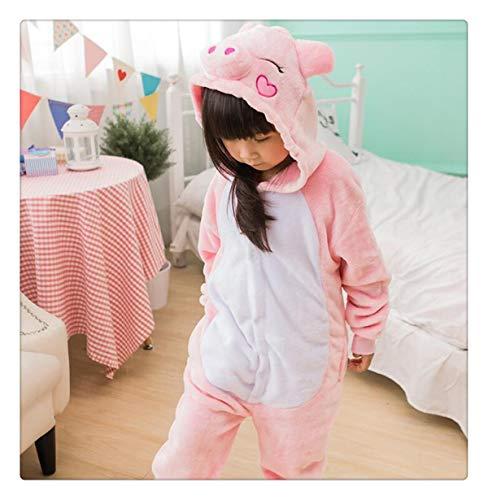 Rainbow Star Unicorn Pajamas Kids Animal Flannel Anime Cartoon Costumes Sleepwear Cosplay Onesie Panda Christmas Pink Pig S