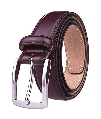Accessories Fashion Purple (Men's Genuine Leather Dress Belt with Premium Quality - Classic & Fashion Design for Work Business and Casual (esWine, 44))