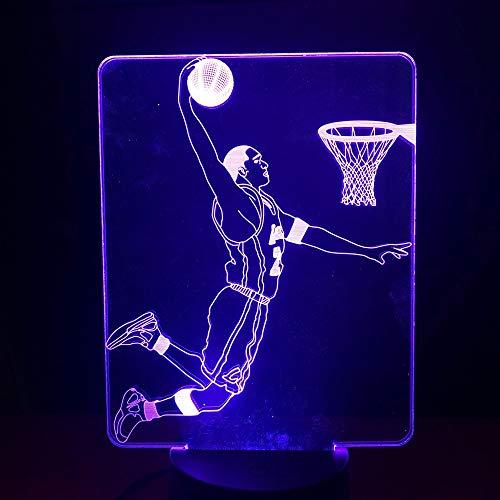 LLWWRR1 Basketball Kids LED Night Light Lamp Kobe Bryant Dunk Action Figure Bedroom Decorative Light Child Boy Birthday Gift 3D Lamp USB