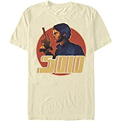 Fifth Sun Solo: A Star Wars Story Men's Han Circle Profile Cream T-Shirt
