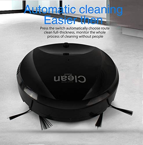 - Maikouhai USB Upgrade Rechargeable Smart Automatic Smart Robot Household Vacuum Cleaner Edge Cleaning Suction Sweeper for Pet Hair, Crumbs, Dust, Debris (Black)