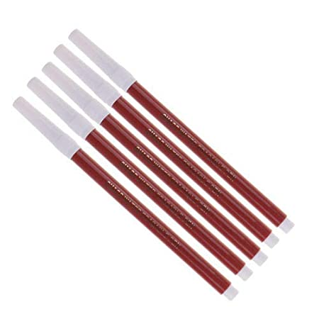White 5 Pieces 2mm Water Erasable Soluble Pen Fit for Fabric Cloth Temporary Marking