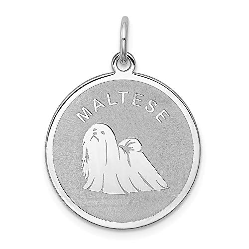 Beautiful Sterling silver 925 sterling Sterling Silver Rhodium-plated Maltese Disc Charm