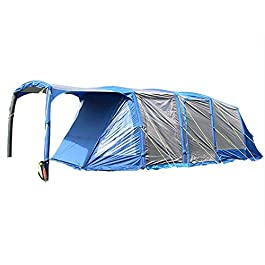WEIFAN CAI- Outdoor 5-8 People Camping Inflatable Tent Waterproof Anti-uv Tent Large Space Air Beams Family Tunnel Tent