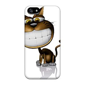 LaurenPFarr Case Cover For Iphone 5/5s - Retailer Packaging Funny Kitty Protective Case