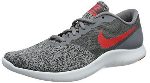 NIKE Men's Flex Contact Running Shoe Cool Grey/University Red-Anthracite 11