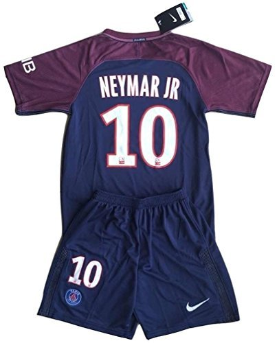 new style a8dac 85cef Neymar Jr #10 PSG 2017-2018 Youths Home Soccer Jersey & Socks - Import It  All