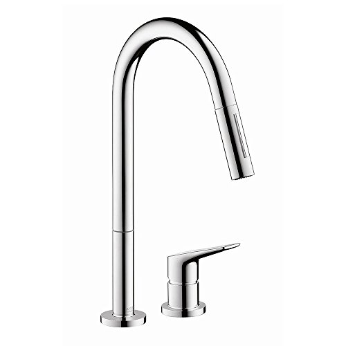 AXOR Citterio M Luxury 1-Handle 16-inch Tall Kitchen Faucet with Pull Down Sprayer Magnetic Docking Spray Head in Chrome, 34822001