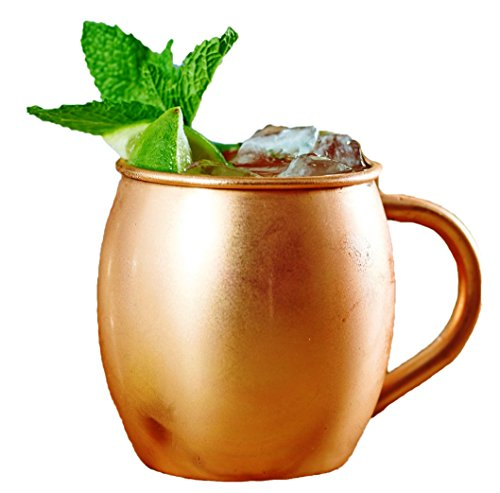 STREET CRAFT 100% Authentic Copper Moscow Mule Mug Pure Copper Moscow Mule Mugs Cups Capacity 16 Oz Copper Handle Pack of 1