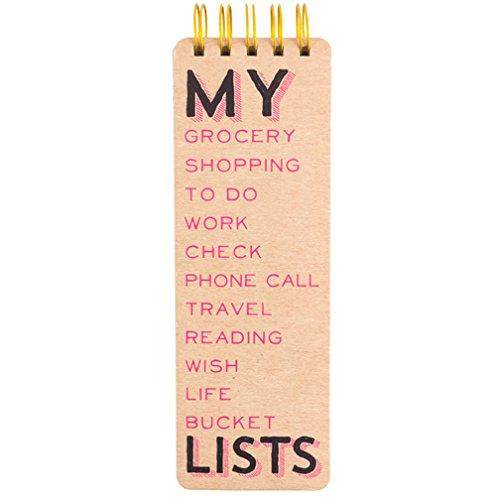 Eccolo Spiral Kraft Memo List Pad, My Lists (Long Notepad)