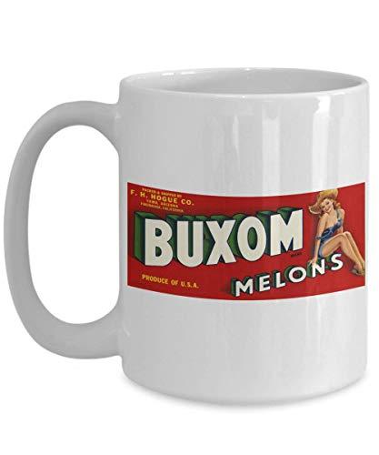 Buxom Melons - Vintage Fruit Crate Label: Ceramic Coffee Mug