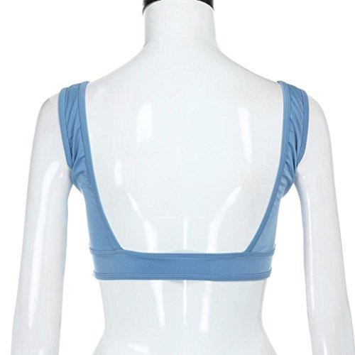 FAMILIZO Mujeres Tank Tops Camisetas De Verano Sin Mangas Camiseta Sin Mangas Chaleco Deportivo Blusa Superior De Cosechaado Sujetadores Deportivos ropa interior Azul