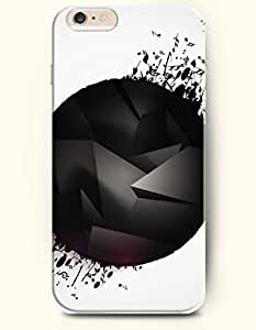 SevenArc Phone Case for iPhone 6 Plus 5.5 Inches with the Design of Black Ball and Music Note