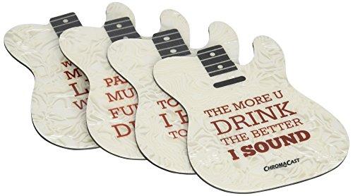 ChromaCast CC COAST T 4PK Guitar Shaped Coasters