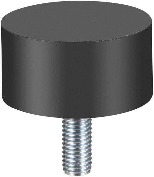 0.98 pulgadas de altura 1.97 pulgadas de di/ámetro uxcell M10 soporte de goma cil/índrica de vibraci/ón y absorci/ón de golpes con tornillo roscado